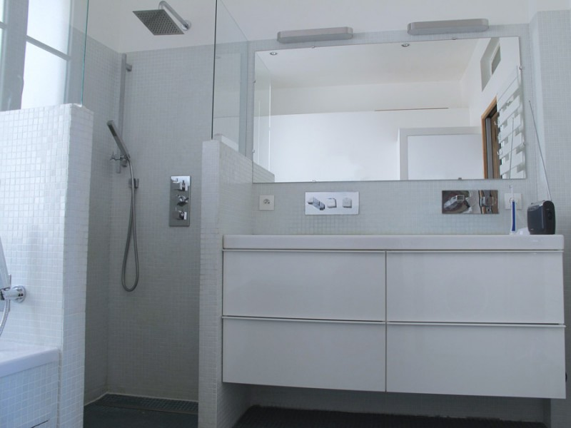 salle de bain en mosaïque