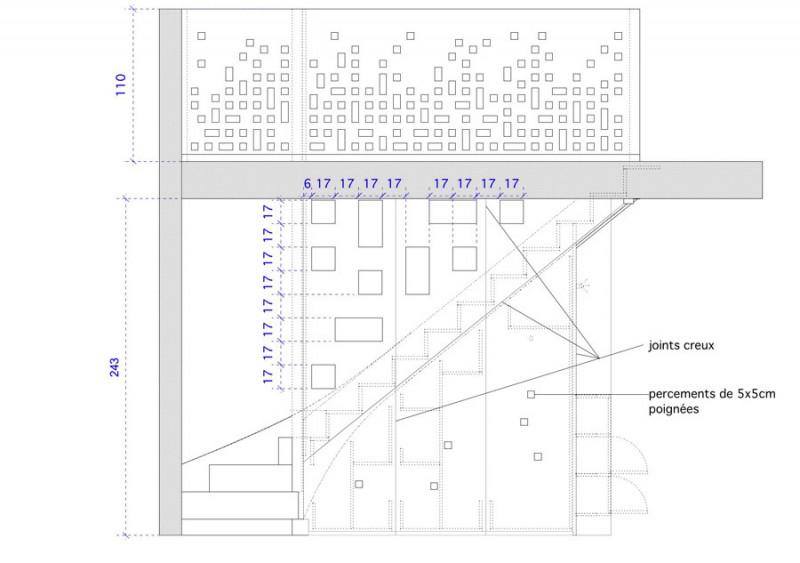 Plan de détail des rangements réalisé par Adelila architecture d'intérieure à Lyon