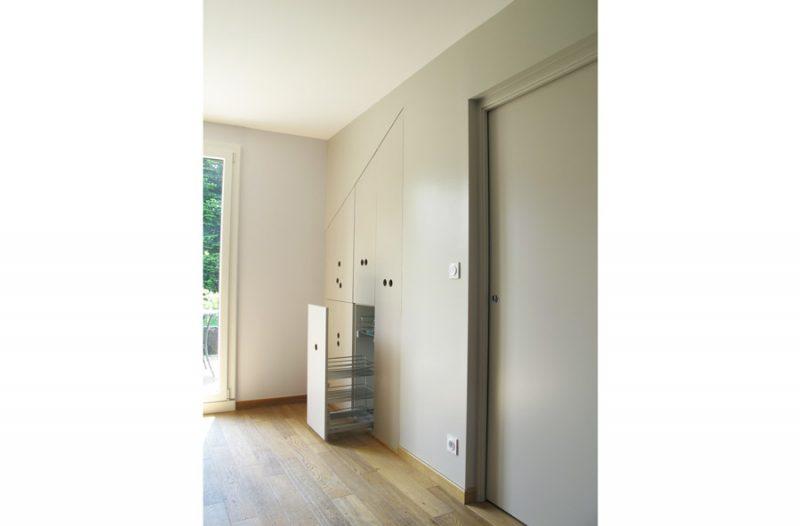 agencement sur mesure dessiné par l'architecte d'intérieur