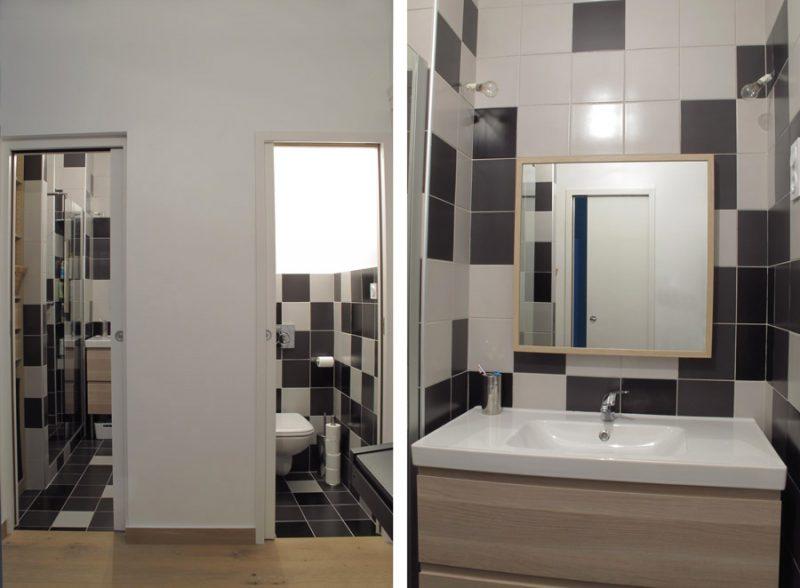 Salle de douche et WC séparé
