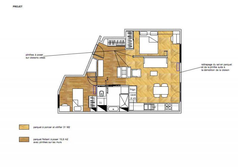 Plan de restructuration d'un appartement