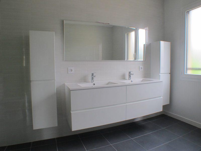 salle de bain mobilier blanc