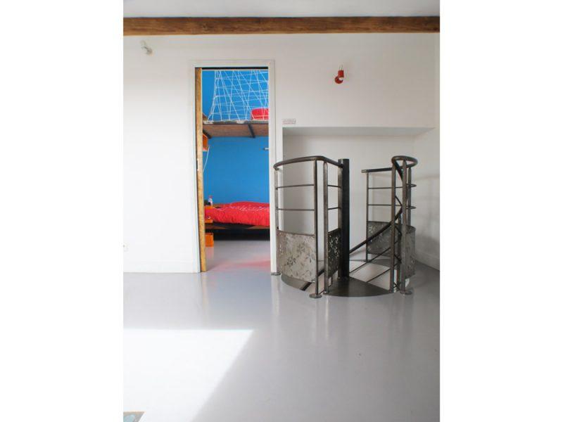 aménagement de combles, escalier hélicoïdal, escalier métallique,