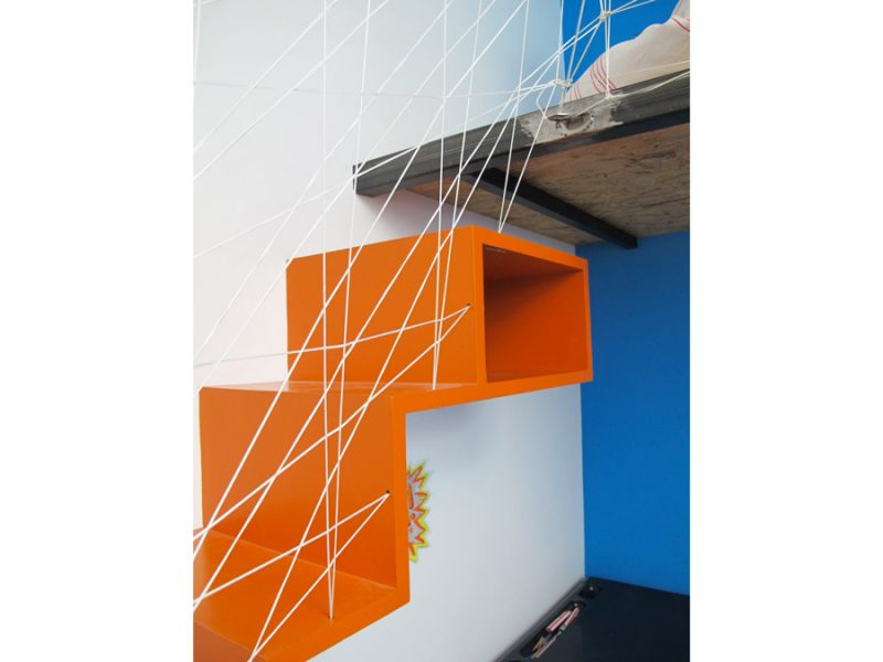 escalier suspendu mezzanine