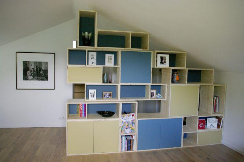 mur bibliothèque